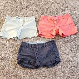 x3 EXPRESS H&M Orange Cream Gray Checkered Shorts